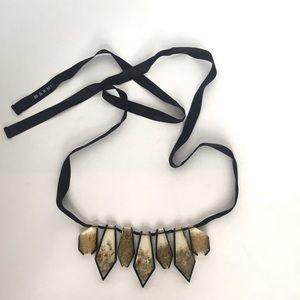 Marni lucite art on a black ribbon